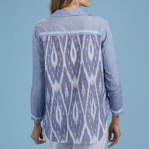 Everyday Button Down Shirt blue embroidered